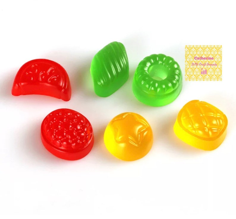 Set of 6 gummy mold chocolate mold candy silicone mold candy silicone mould fondant mold