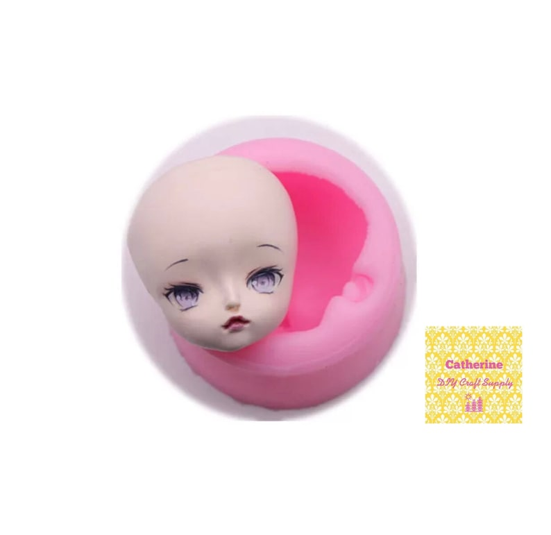 Doll Face silicone mold gum paste mold face silicone mould Cute Face mold fondant mold chocolate mold face mould