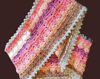 Crochet Batik Swirl Cowl