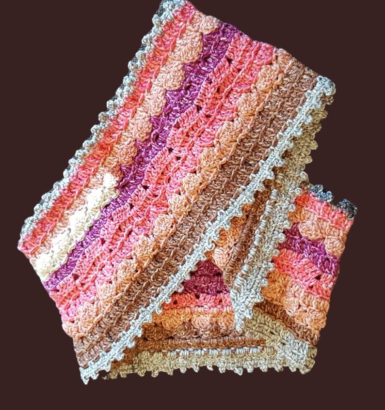 Crochet Batik Swirl Cowl image 0