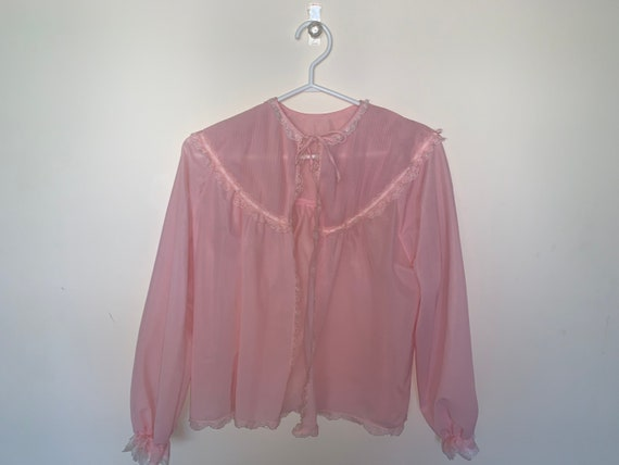 Vintage Pink Ruffle Camisole Lingerie