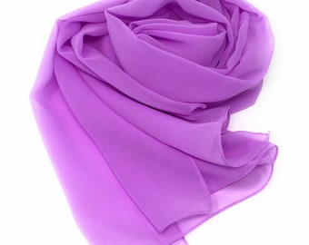 3368b15256 Chiffon-Sheer-Shawl-Scarf-Wrap-pashmina-wedding favors-bridesmaids  gifts-purple