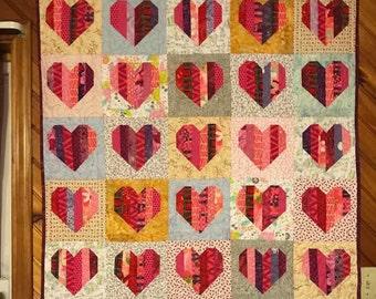scrappy heart quilt