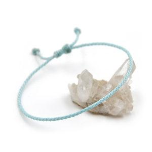 Blue palette zigzag river pattern cotton friendship bracelet