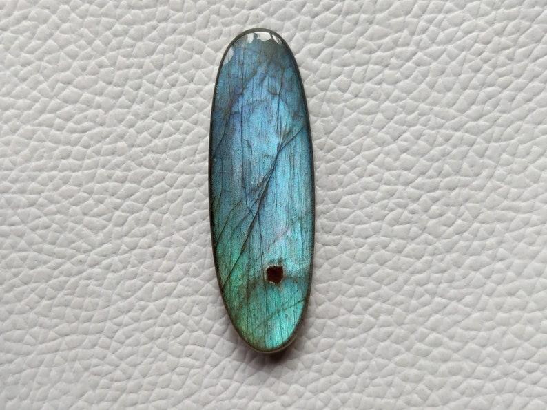 Gorgeous Labradorite Gemstone Jewelry Making Labradorite Cabochon Gemstone 40X13X5 mm Oval Shape Loose Stone