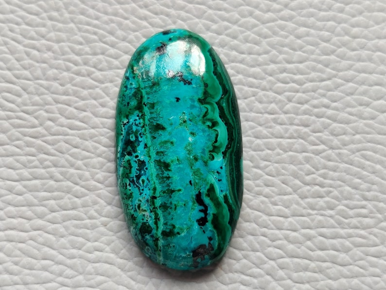Amazing Azurite Malachite For Pendant Necklace Jewelry Making Gemstone 37X19X6 mm Oval Shape Natural Gemstone Cabochon
