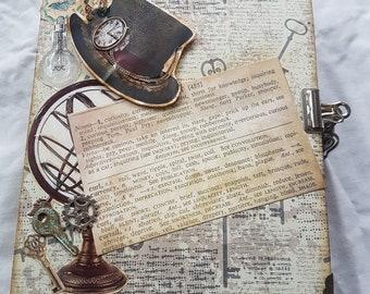 Steampunk scrapbook photo album