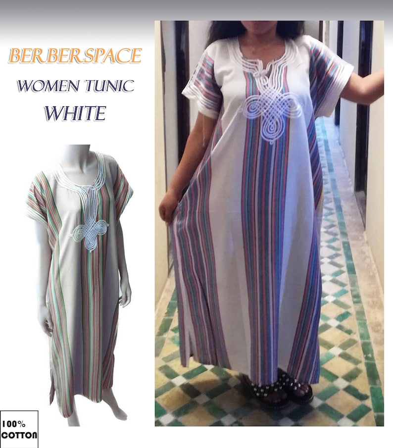 2b5636367b76af Gandoura Marokkaanse Caftan jurk Kaftan caftan wit ideaal