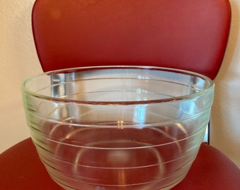 Vintage Cranberry Glass 7 Cup Pyrex Mixing or Serving Bowl Made in The USA Housewarming Gift Bridal Gift Wedding Gift