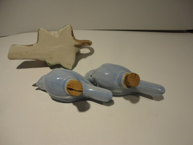 Bluebirds Salt and Pepper Shakers,Collectible Bird Salt and Pepper Shakers,Vintage Bluebirds Salt and Pepper Shakers,Vintage Shakers