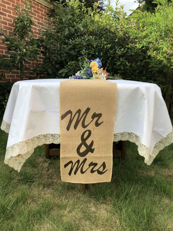 Favour Bags Aisle Runners Chair Sashes Rustic Wedding Hessian Table Runners