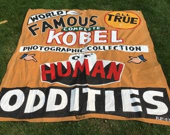 Vintage Circus Sideshow Canvas Banner - Kobel Photographic Collection