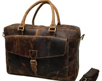 fa9babfc446b 40% Off Personalized Genuine leather messenger bag laptop bag shoulder bag  for women gift for men office bag work briefcase Large Satchel