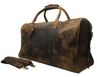 c805d51890 40% Off Personalize Genuine Leather Duffel Bag Vintage Carry On Weekend Bag  Large Duffle Luggage Bag Gym Overnight Travel Bag gift Men Women