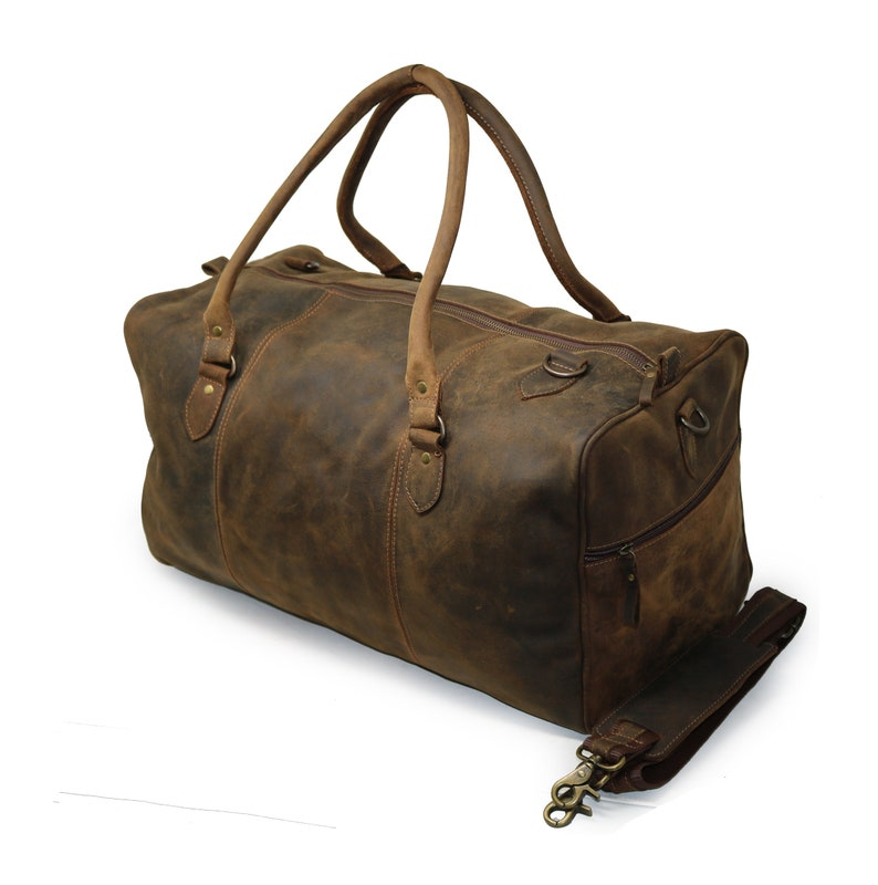 8ebbd4e7a6 40% Off Personalize Genuine Leather Duffel Bag Vintage Carry