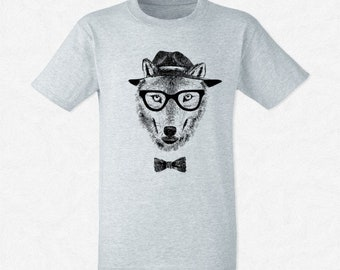 T-shirt Dressed up wolf