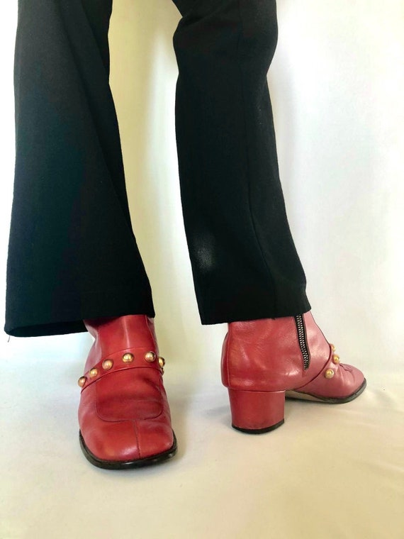 Vintage 1960s STUDDED Mod boots / Glam / SPACE AGE