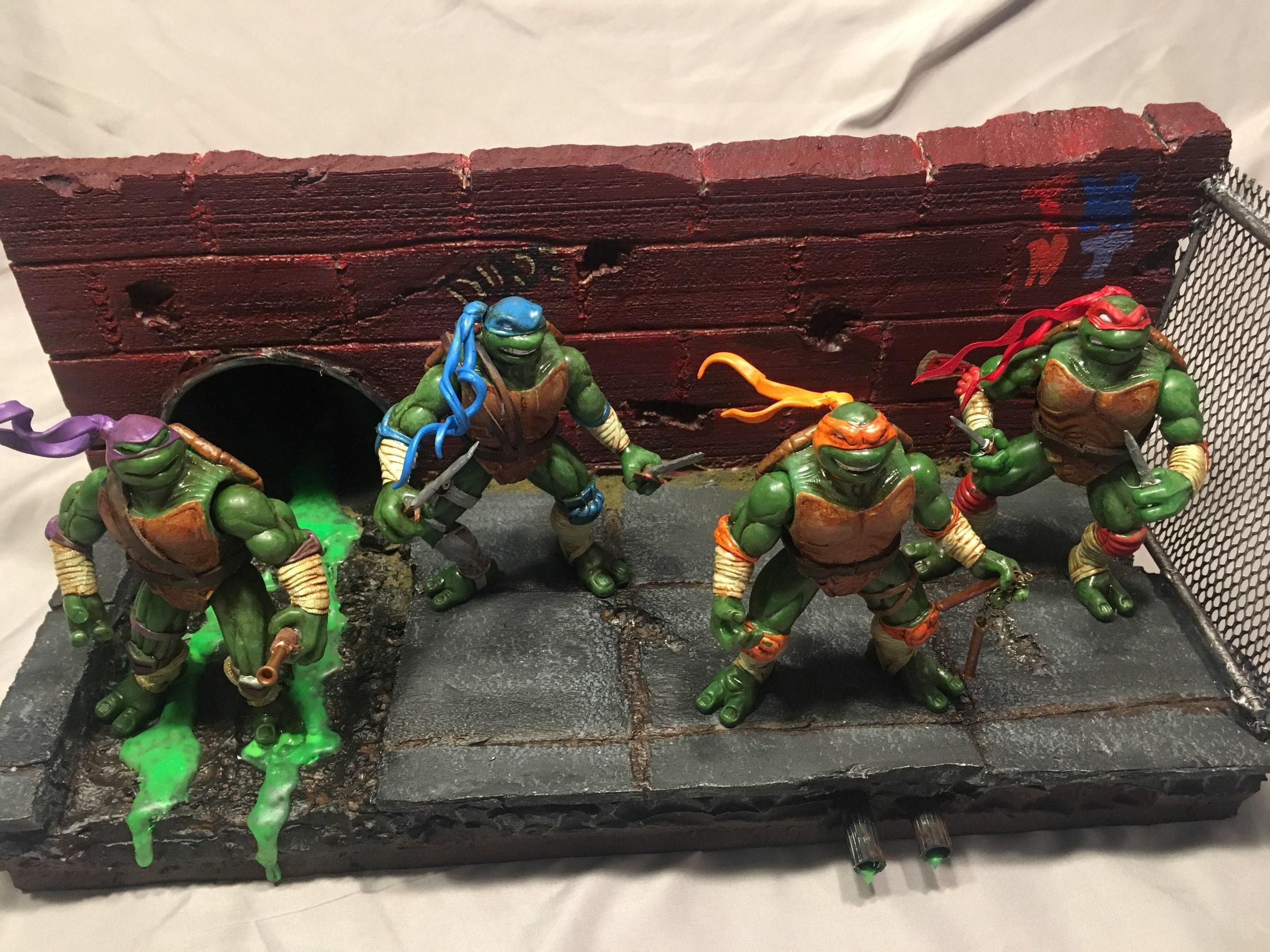 Custom TMNT Figures and Diorama