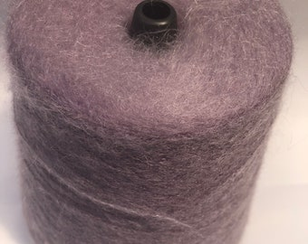 Mohair yarn on cone, lilac mohair, lace yarn for handknitting, extra fluffy, per 100 gr