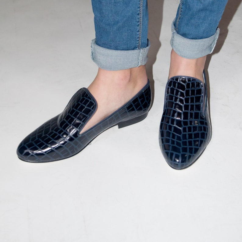 Womens Shoes Blue Loafers Blue Loafers Shoes Women Oxford