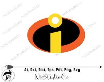 photo regarding Incredibles Logo Printable titled Incredibles symbol Etsy