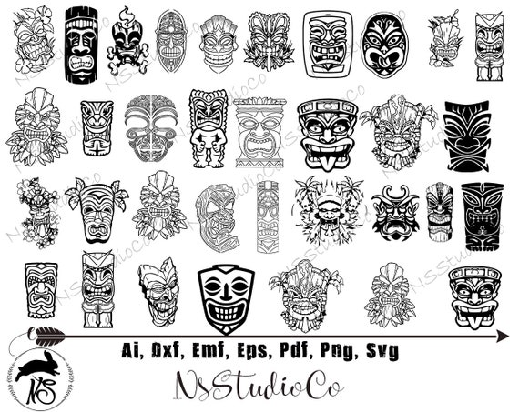 An Old Black Man and Inside A Tiki Bar Background – Clipart Cartoons By  VectorToons