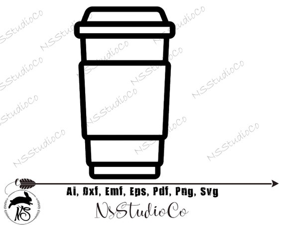 Coffee Cup Svg Coffee To Go Svg Coffee Cup Silhouette Svg Etsy