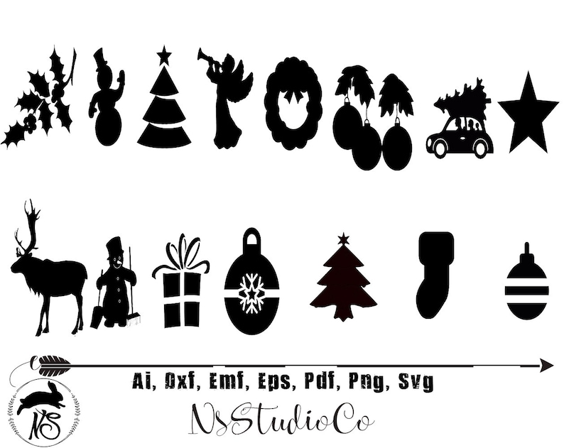 Christmas Silhouette.Christmas Svg For Cricut Silhouette Christmas Silhouette Christmas Png Clipart Christmas Dxf Vector Files Christmas Illustrator