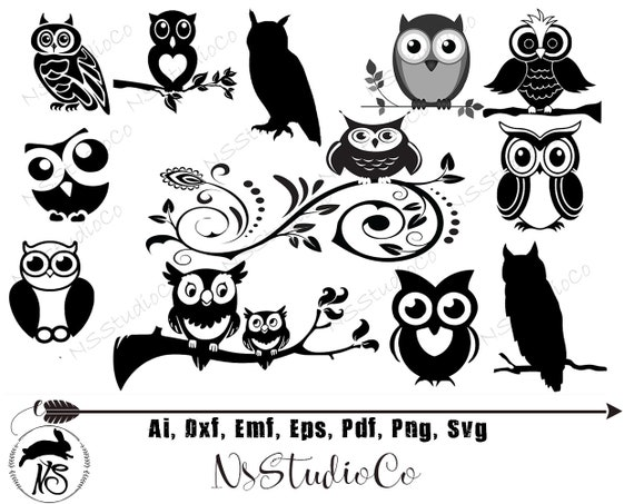 Owl SVG Bundle Owl SVG Owl Clipart Owl Cut Files For   Etsy