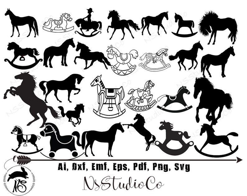 Horse Silhouette Svg Rocking Horse Svg Animal Silhouettes