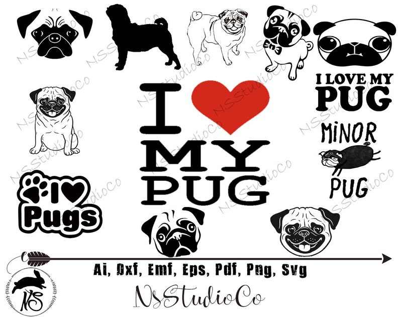 View Pug Vector