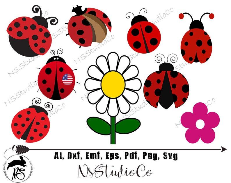 Genial Ladybug Garden Clipart, Flower, Red Ladybugs, Ladybirds, Flowers, Spring  Garden, Gardening Clipart, Flower Svg , Vector Clipart, SVG File