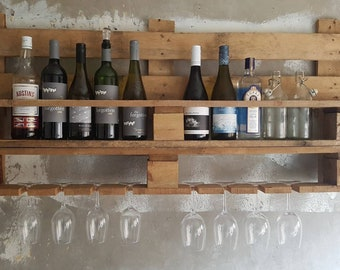 Up-cycled pallet wine rack