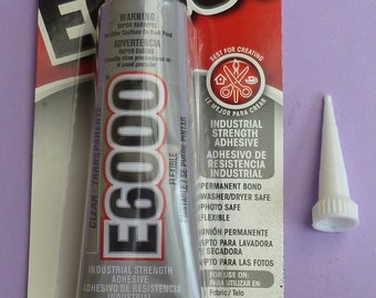 E6000 Glue - 2oz tube plus 1 snip tip