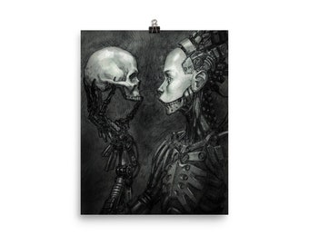 Cyborg Scull Poster