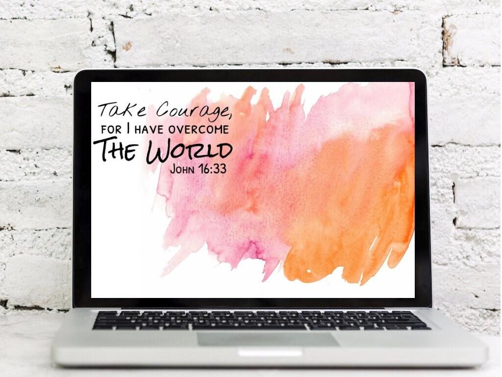 John 16:33 Bible Verse Wallpaper Set | Etsy