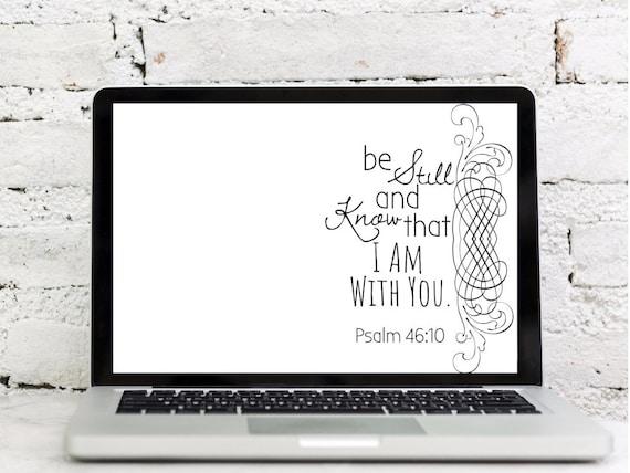 Psalm 4610 Bible Verse Wallpaper Set Etsy