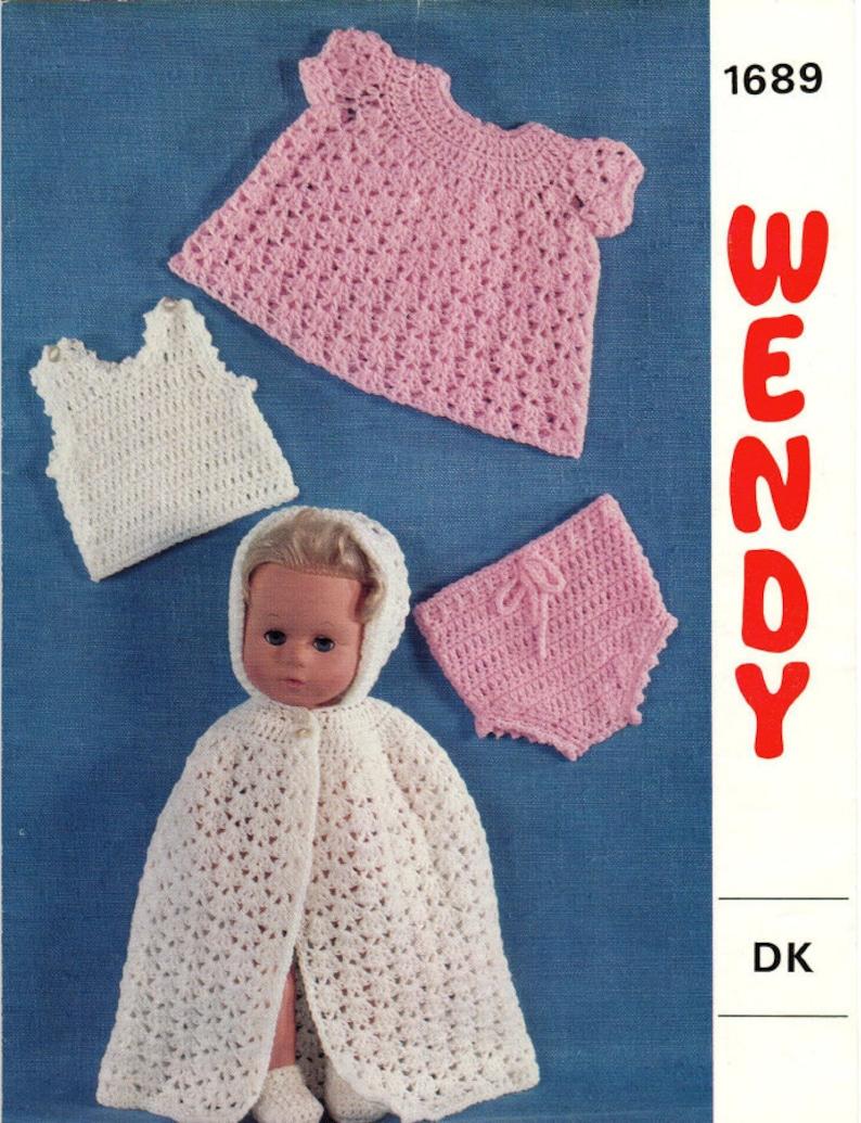 Crochet Dolls Clothes Pattern Wendy 1689 Pdf Pattern For Etsy