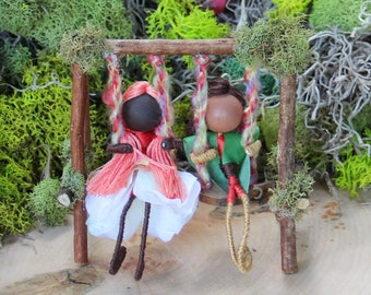 Fairy Swing Craft Kit with Blossom and Leaf Fairies