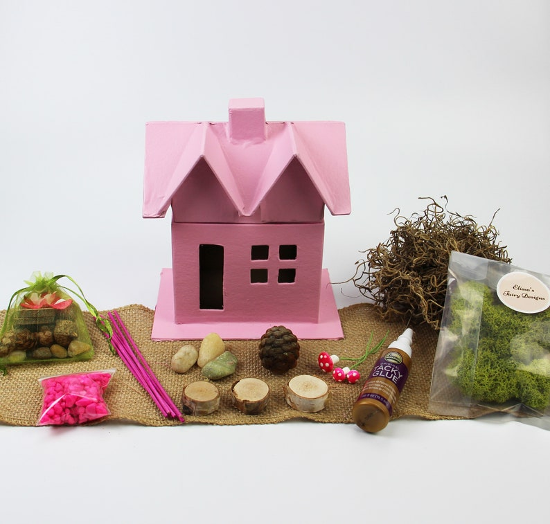 Fairy House Craft Kit For Kids Etsy