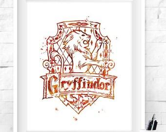 Harry Potter Art Print Ravenclaw Hufflepuff Gryffindor Etsy