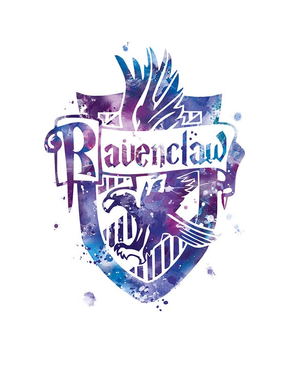Ravenclaw Wappen Drucken Harry Potter Aquarell Harry Potter Etsy