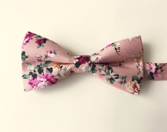 64dd4300d92a Pink floral bow tie | blush wedding floral bow tie | groom floral biw tie |  mens floral bow ties | groomsmen floral bow tie | gift for men
