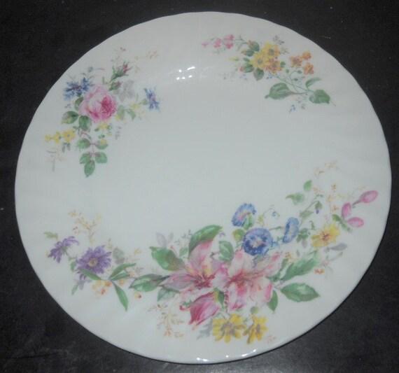 "Bread Plate 6 5//8/"" Royal Doulton China Arcadia H4802 Smooth Edge, Brown Mark"