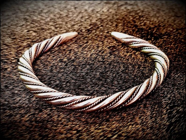 Viking Bronze Twisted Bracelet Arm Ring