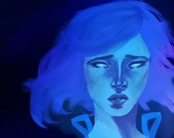 Steven Universe Lapis Lazuli print