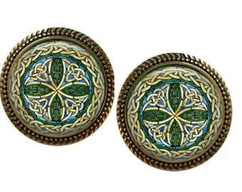Furniture Knob Triskelion Engraving beech triple spiral-furniture knob-Beech-Celtic tribal-incl screw