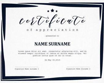 School Certificate Etsy