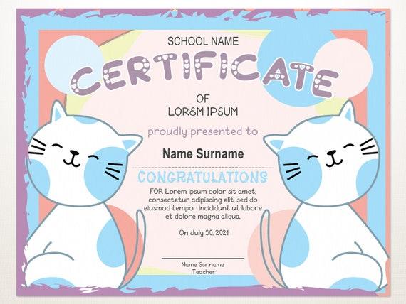 Preschool Certificate Template from i.etsystatic.com