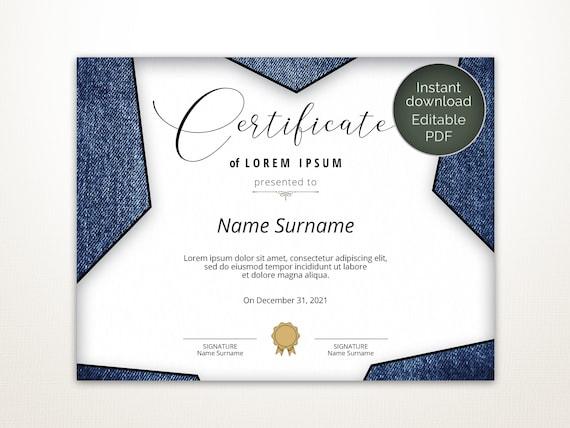 Blank Certificate Design from i.etsystatic.com